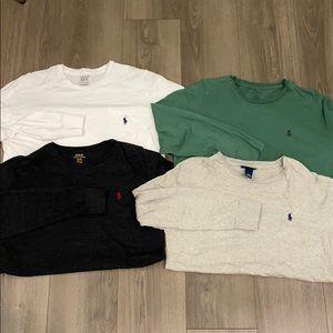 Unisex Long Sleeve Polo T Shirts